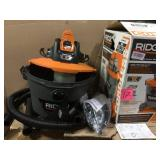 9 Gal. 18-Volt Cordless Wet/Dry Shop Vacuum (Tool Only) with Filter, Hose and Accessories by RIDGID Open Box Customer Returns See pictures.