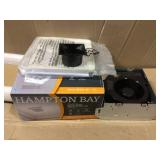 50 CFM Wall/Ceiling Mount Roomside Installation Bathroom Exhaust Fan, ENERGY STAR by Hampton. BayOpen Box Customer Returns See pictures.