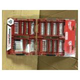 SHOCKWAVE Impact Duty Steel Drill and Driver Bit Set (120-Piece) by Milwaukee Open Box Customer Returns See pictures.