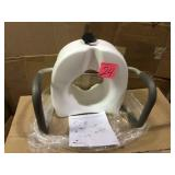 E-Z Lock Raised Toilet Seat with Armrests by Carex Health Brands Open Box Customer Returns See pictures.