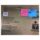 32.8 in. H x 28 in. W x 18 in. D 2-Door Steel Garage Base Cabinet by Husky Open Box Customer Returns See pictures.