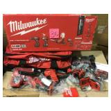 M18 18-Volt Lithium-Ion Cordless Combo Tool Kit (4-Tool) w/(2) 3.0Ah Batteries, (1) Charger, (1) Tool Bag by Milwaukee Open Box Customer Returns See pictures.