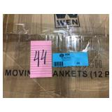 80 in. L x 144 in. W Extra-Large Premium Moving Blanket 4 Pack by Pratt Retail Specialties Open Box Customer Returns See pictures.