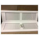 12 in. x 39 in. Raised Panel Polypropylene Shutters Pair in White in good condition