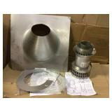 3 in. x 5 in. Vertical Concentric Termination Vent Kit Stainless Steel for Mid Efficiency Tankless Gas Water Heaters Open Box Customer Returns See pictures.
