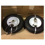 Farm & Ranch 13 in. Pneumatic Wheelbarrow Tire (2-Pack) Open Box Customer Returns See pictures.