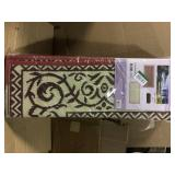 9 ft. x 18 ft. Reversible Mat - Classic Burgundy/Beige by Reversible Mats Open Box Customer Returns See pictures.