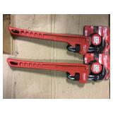 18 in. Steel Pipe Wrench by Milwaukee in good condition
