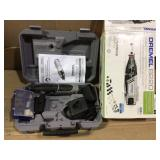 8220 Series 12-Volt MAX Lithium-Ion Variable Speed Cordless Rotary Tool Kit with 30 Accessories and Case by Dremel in good condition