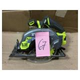 18-Volt ONE+ Cordless Brushless 7-1/4 in. Circular Saw (Tool Only) by RYOBI Open Box Customer Returns See pictures.