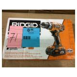 18-Volt Lithium-Ion Cordless 2-Speed 1/2 in. Compact Drill/Driver Kit with 2 Ah Battery, Charger, and Tool Bag by RIDGID Open Box Customer Returns See pictures.