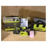 18-Volt ONE+ Lithium-Ion Cordless 1/4 in. Impact Driver Kit with (2) 1.5 Ah Batteries, Charger, and Bag by RYOBI Open Box Customer Returns See pictures.