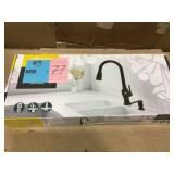 Marchand Single Handle Pull-Down Sprayer Kitchen Faucet in Legacy Bronze by American Standard Open Box Customer Returns See pictures.