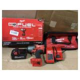 M18 FUEL 18-Volt Lithium-Ion Brushless Cordless 1/2 in. Impact Wrench w/Friction Ring Kit w/One 5.0 Ah Battery and Bag by Milwaukee Open Box Customer Returns See pictures.