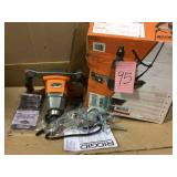 Single-Paddle Mixer by RIDGID Open Box Customer Returns See pictures.
