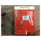 Milwaukee M18 18-Volt Lithium-Ion Cordless Combo Tool Kit (9-Tool) with (3) Batteries, Charger and Tool Bag open box not used