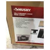 Husky 28 in. W x 33 in. H x 18 in. D 1-Drawer 2-Door Steel Garage Base Cabinet not used