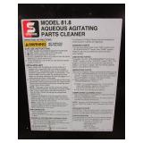 SAFETY-KLEEN AQUEOUS AGITATING PARTS CLEANER