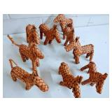 Woven Straw Wicker Horses