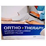 HoMEDICS Ortho + Therapy Memory Foam Lumbar Support Pillow