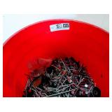 Harbor Freight 5 gallon Bucket Half full with nails and more!
