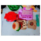 Box of Kids Kitchen Toys - Wood Metal and some plastic