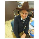 BROWN FELT HAT - LIKE NEW