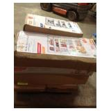 Pallet with assorted storage shelves customer returns see pictures