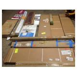 Pallet with assorted Shelves, Blinds, furniture and more see pictures