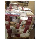 Pallet with assorted Home Decorators Lighting customer returns see pictures