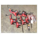 Lot of assorted Homelite Chain Saws Customer Returns see pictures