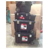 Lot of assorted Husky Storage boxes various conditions see pictures