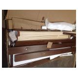 Dorstead Walnut KingBed with Shutter Back customer returns see pictures