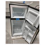 WHIRLPOOL 4.6 Cu. Ft. Mini Refrigerator with Dual Door True Freezer in Stainless Look