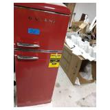 GALANZ 7.6 cu.ft. Retro Mini Refrigerator with Dual Door and True Freezer in Red