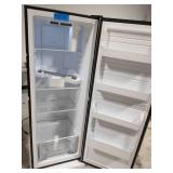 GALANZ 11 cu. ft. Frost Free Convertible Upright Freezer or Fridge in Stainless Steel with Electronic Temperature Control