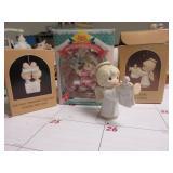 PRECIOUS MOMENTS CHRISTMAS ORNAMENTS AND EMPTY BOX
