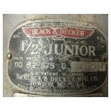 """VINTAGE BLACK & DECKER 1/2"""" JUNIOR DRILL, 3/8"""" DRILL, DELUXE SANDER,  CRAFTSMAN 3/8"""" DRILL, SANDER"""