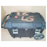 26 in. Connect Rolling Tool Box Black by Husky- used & slightly damaged-SEE PICTURES