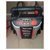 800 Peak Amp Jump Starter with 120 PSI Compressor by Vector - open box not used - missing charger -SEE PICTURES