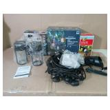 Mixed lot of outdoor lights- unknown conditions -SEE PICTURES
