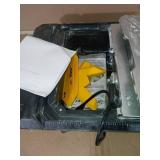 700XT 3/4 HP Wet Tile Saw with 7 in. Blade and Table Extension by QEP- slightly used, missing parts -SEE PICTURES