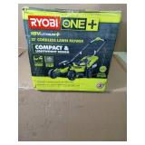 13 in. ONE+ 18-Volt Lithium-Ion Cordless Battery Walk Behind Push Lawn Mower - 4.0 Ah Battery/Charger Included by RYOBI- open box not used -SEE PICTURES
