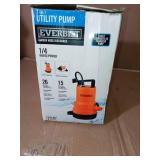 1/4 HP 2-in-1 Utility Pump by Everbilt- open box not used -SEE PICTURES