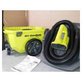 18-Volt ONE+ 6 Gal. Cordless Wet/Dry Vacuum (Tool Only) with Hose, Crevice Tool, Floor Nozzle and Extension Wand by RYOBI- slightly used -SEE PICTURES
