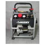 4.5 Gal. Portable Electric-Powered Silent Air Compressor by Husky- slightly used - missing screws -SEE PICTURES