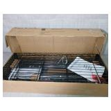 Black 4-Tier Metal Wire Shelving Unit (36 in. W x 54 in. H x 14 in. D) by HDX- open box not used -SEE PICTURES