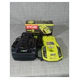 Ryobi charger & ego charger - used & new - set of 3-SEE PICTURES