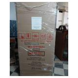 Welded 54 in. W x 75 in. H x 19 in. D Steel Garage Cabinet Set in Black (3-Piece) by Husky- packaging not open -SEE PICTURES