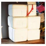 Foam Coolers Lot Of 6 Coolers